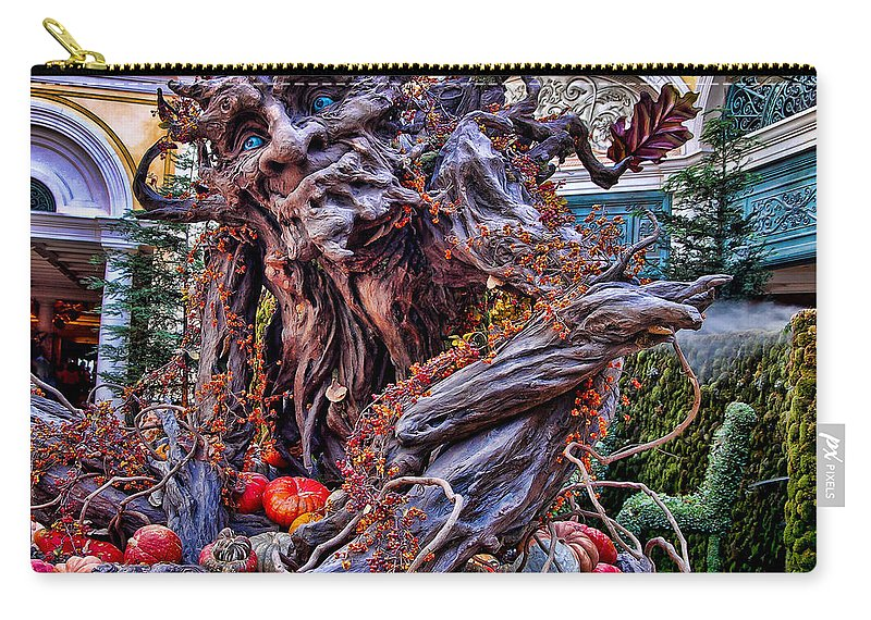 Bellagio Hotel Las Vegas Carry-all Pouch featuring the photograph Conservatory Decoration Fall 2007 by Jon Berghoff