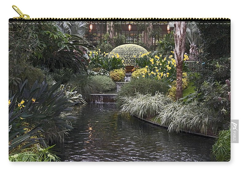 Chrysanthemum Display Carry-all Pouch featuring the photograph Conservatory In Autumn by Sally Weigand