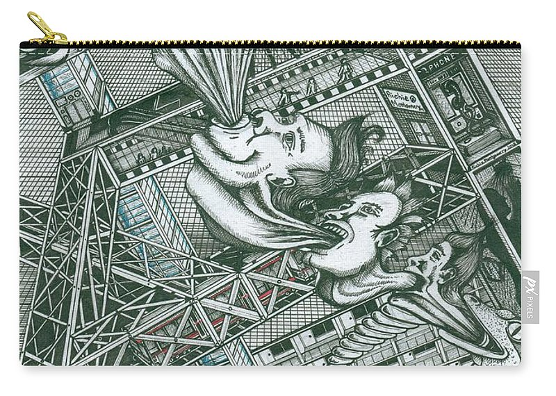 Homer Carry-all Pouch featuring the painting A Constructor Of Time by Richie Montgomery