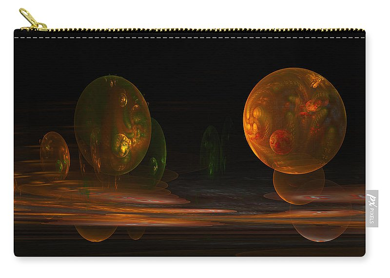 Fractal Carry-all Pouch featuring the digital art Consumed From Within by GJ Blackman