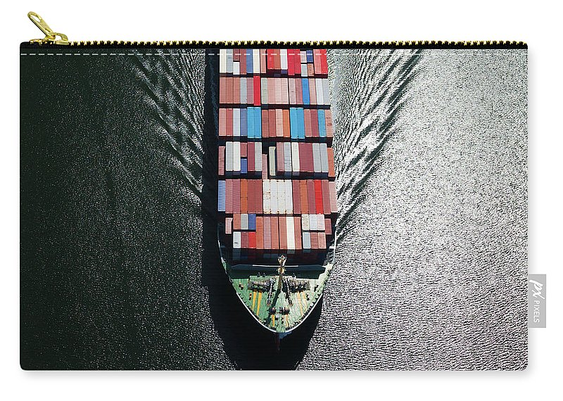Freight Transportation Carry-all Pouch featuring the photograph Container Ship Bow by Dan prat