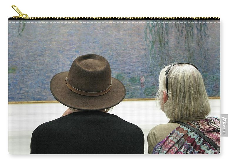 People Carry-all Pouch featuring the photograph Contemplating Art by Ann Horn