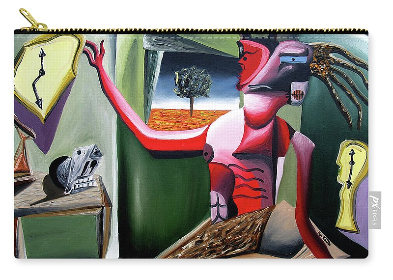Abstract Carry-all Pouch featuring the painting Contemplifluxuation by Ryan Demaree