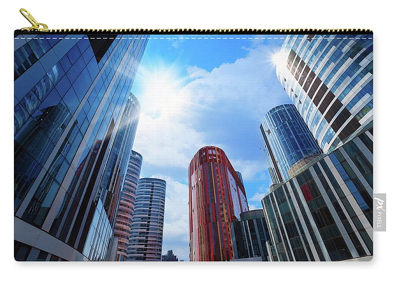 Chinese Culture Carry-all Pouch featuring the photograph Contemporary Building by Ithinksky