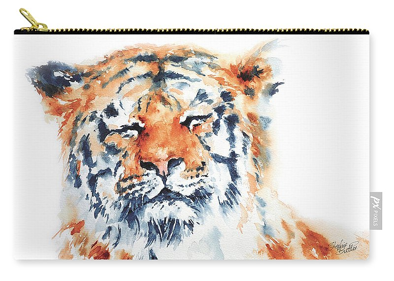 Stephie Carry-all Pouch featuring the painting Contentment by Stephie Butler