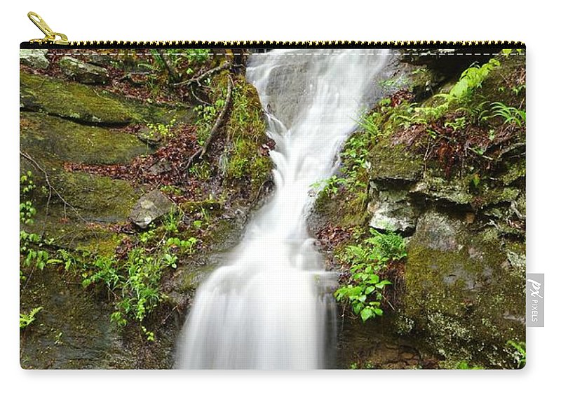 Waterfalls Carry-all Pouch featuring the photograph Continuous Drop by Deanna Cagle