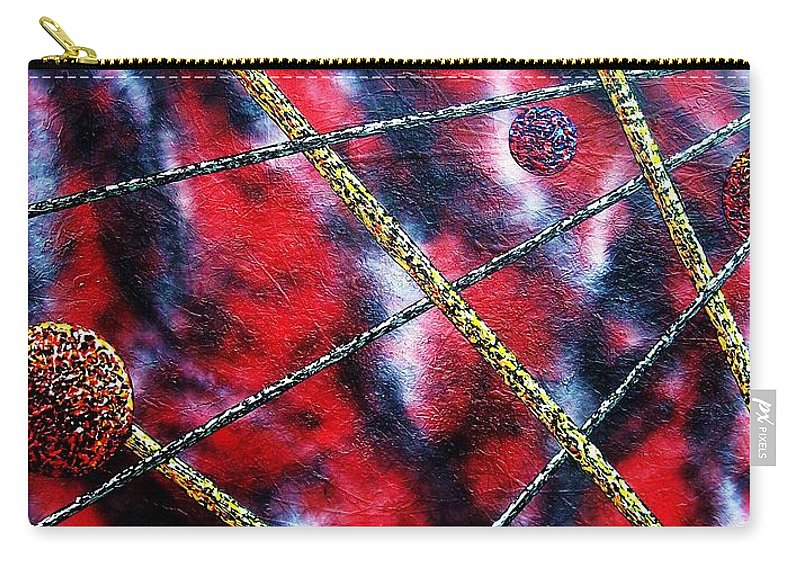 Abstract Carry-all Pouch featuring the painting Continuum IV red sky by Micah Guenther