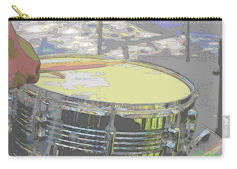 Drum Carry-all Pouch featuring the photograph Contorno Snare by C H Apperson