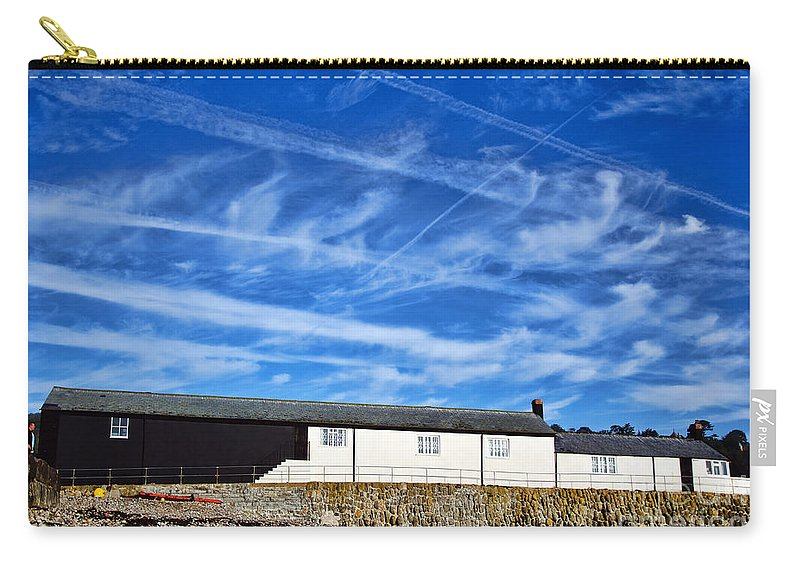 Contrails Carry-all Pouch featuring the photograph Contrails Over The Cobb by Susie Peek
