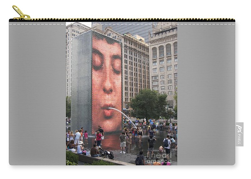 Cool Crowd By Ann Horn Carry-all Pouch featuring the photograph Cool Crowd by Ann Horn