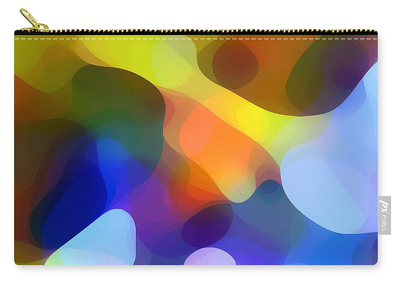 Bold Carry-all Pouch featuring the painting Cool Dappled Light by Amy Vangsgard