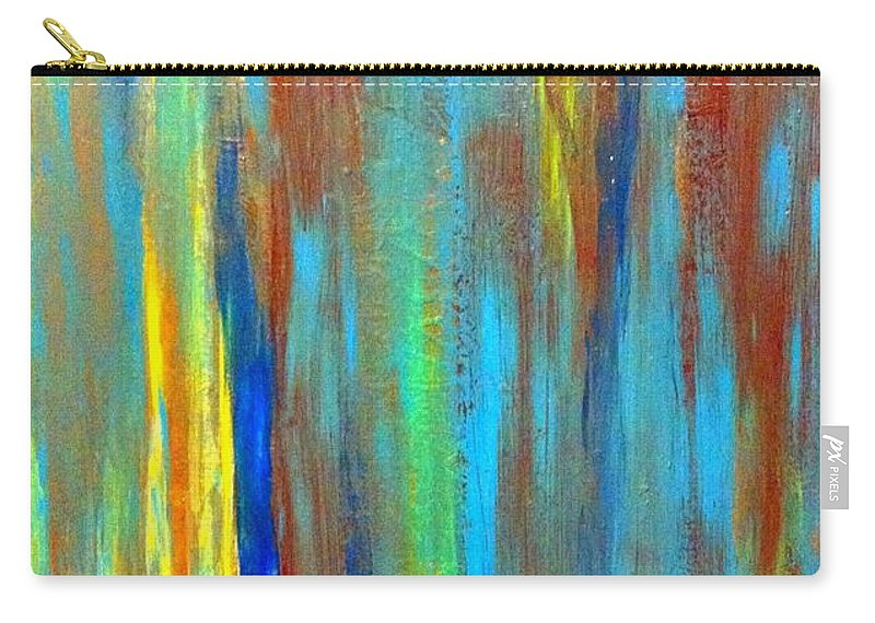 Abstract Carry-all Pouch featuring the painting Cool It by Saundra Myles