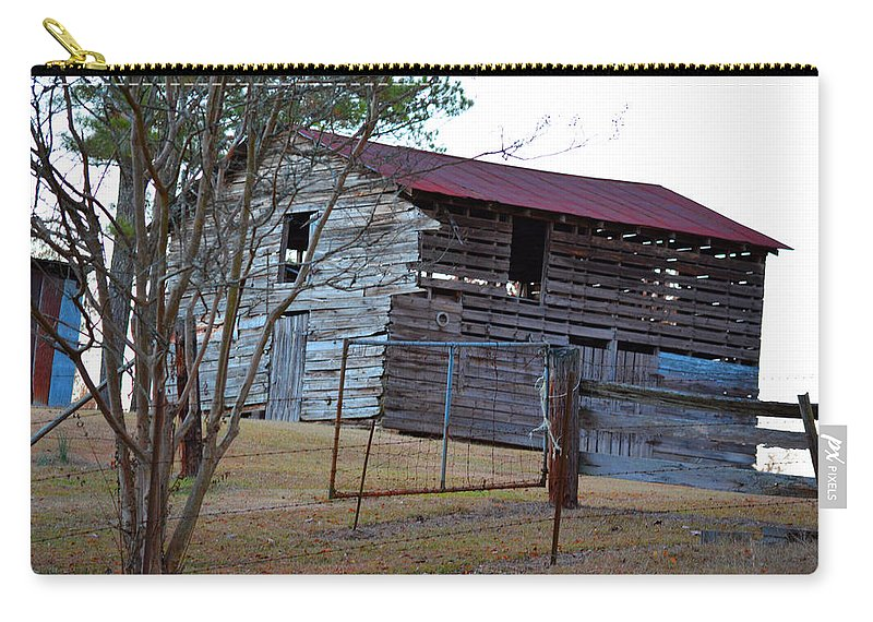 Red Carry-all Pouch featuring the photograph Cool Nights by Barb Dalton