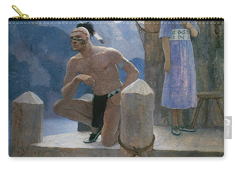 1925 Carry-all Pouch featuring the photograph Cooper: Deerslayer, 1925 by Granger