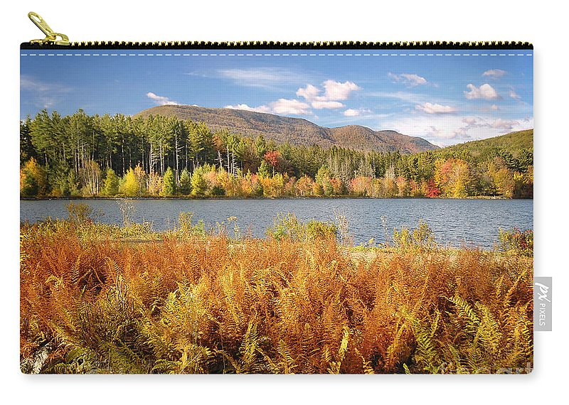 Catskills Carry-all Pouch featuring the photograph Cooper Lake by Claudia Kuhn