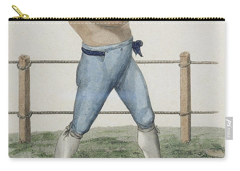 Male Carry-all Pouch featuring the drawing Cooper The Gipsy, Engraved By P by Isaac Robert Cruikshank