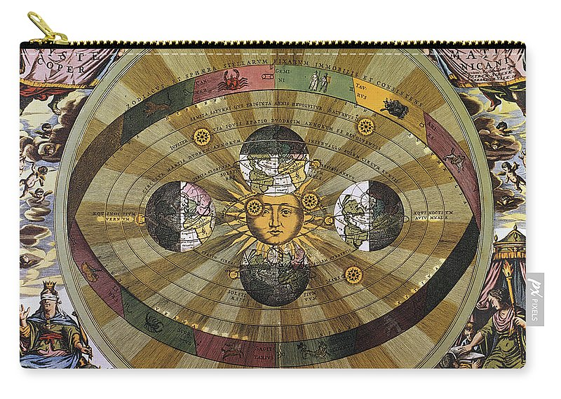 17th Century Carry-all Pouch featuring the photograph Copernican Universe by Granger