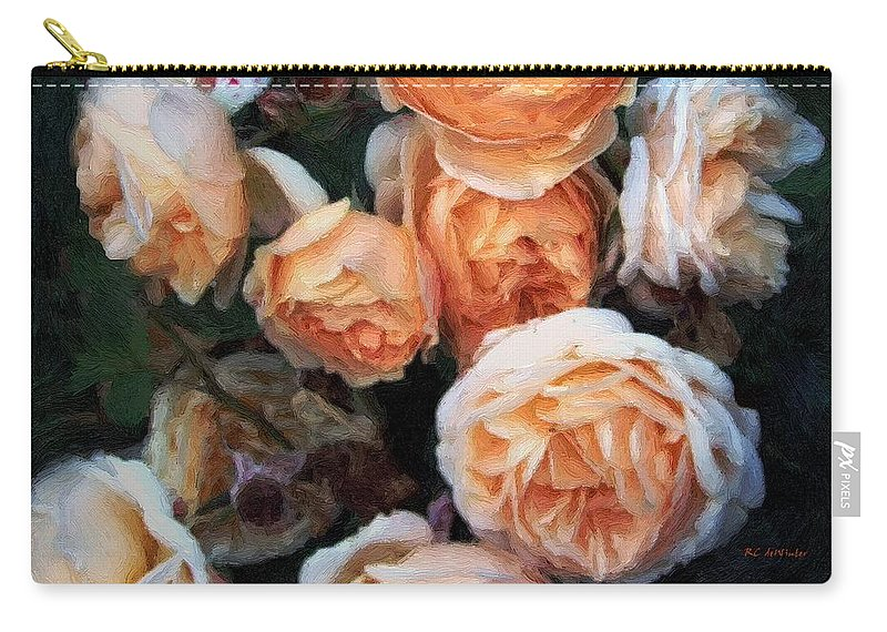 Roses Carry-all Pouch featuring the painting Copperblush by RC DeWinter