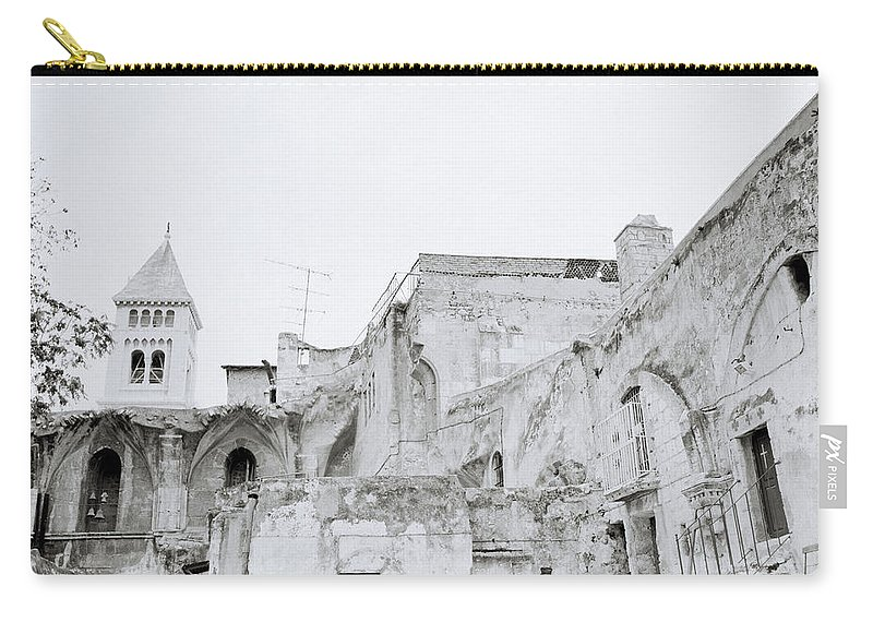 Christianity Carry-all Pouch featuring the photograph Coptic Jerusalem by Shaun Higson