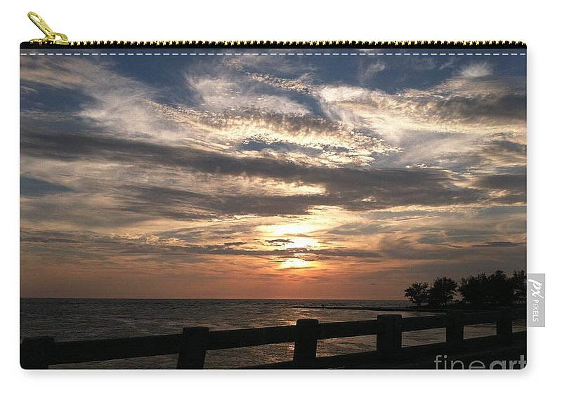 Beach Carry-all Pouch featuring the photograph Coquina Sunset by Melissa Darnell Glowacki