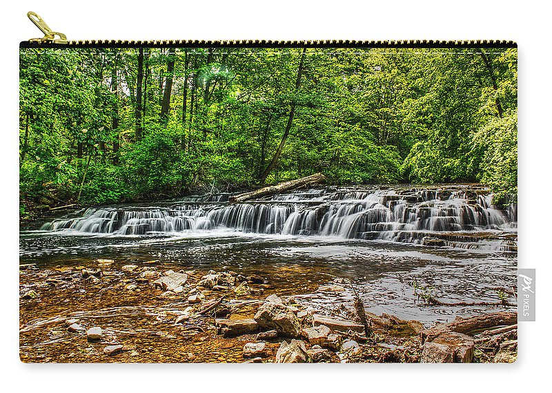 Creek Carry-all Pouch featuring the photograph Corbett's Glen Waters by Tim Buisman