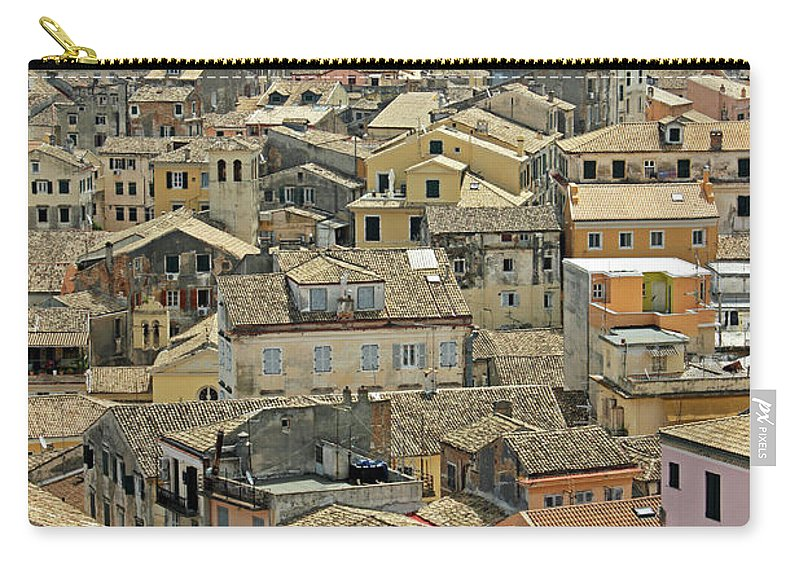 Greek Culture Carry-all Pouch featuring the photograph Corfu, Greece by David Gould