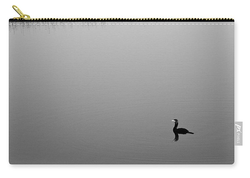 Double Crested Cormorant Carry-all Pouch featuring the photograph Cormorant by Sandy Swanson