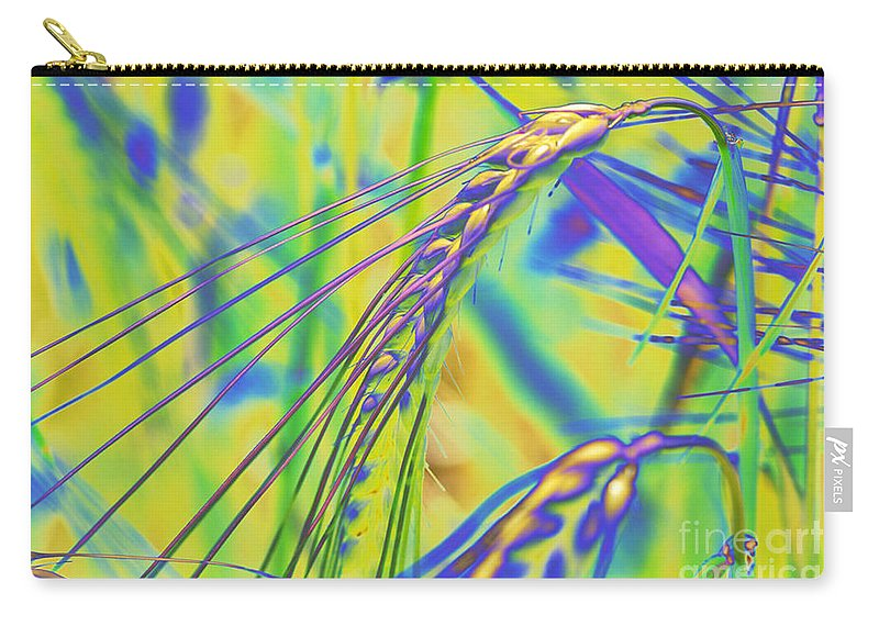 Corn Carry-all Pouch featuring the digital art Corn by Carol Lynch