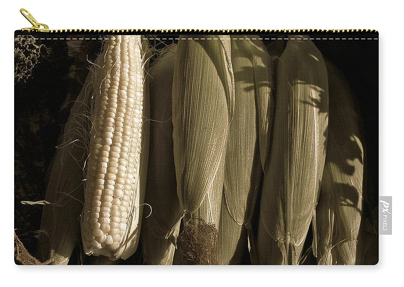 Corn Carry-all Pouch featuring the photograph Corn On The Cob by Chris Berry