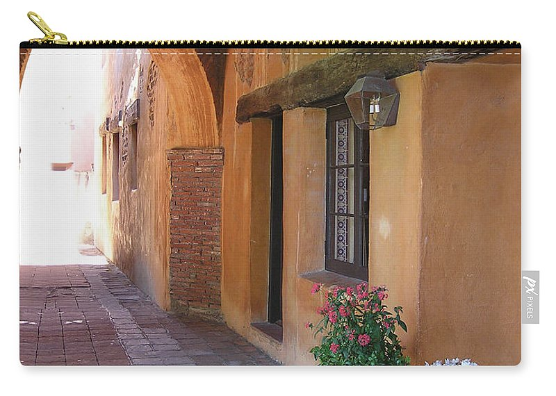 California Missions Carry-all Pouch featuring the photograph Corner Arch, Mission San Juan Capistrano, California by Denise Strahm