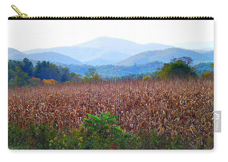 Landscapes Carry-all Pouch featuring the photograph Cornfield In The Mountains by Duane McCullough