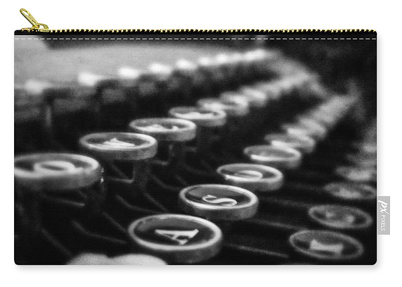 Grunge Carry-all Pouch featuring the photograph Corona Zephyr Keyboard by Jon Woodhams