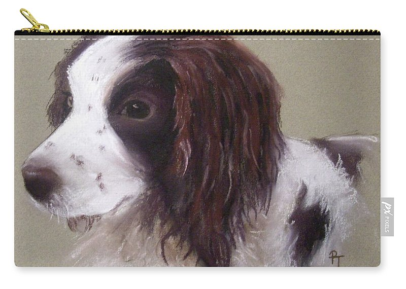 Spaniel Carry-all Pouch featuring the pastel Corrie by Rosemarie Temple-Smith
