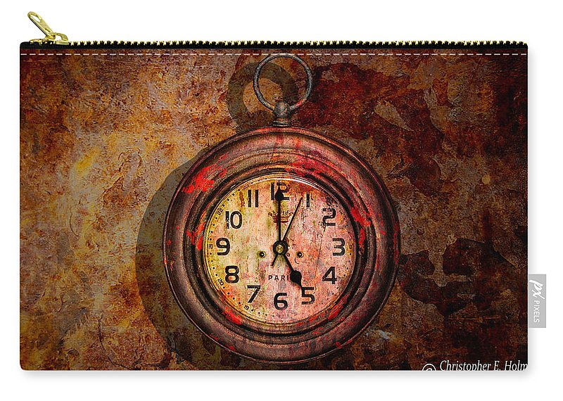 Christopher Holmes Photography Carry-all Pouch featuring the photograph Corroded Time by Christopher Holmes