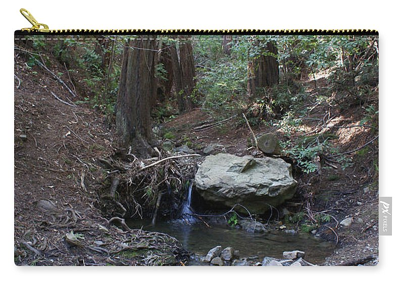 Mt. Tamalpais Carry-all Pouch featuring the photograph Corte Madera Creek On Mt. Tam In 2008 by Ben Upham III