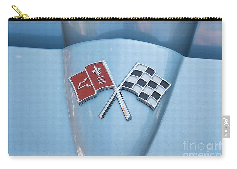 Cars Carry-all Pouch featuring the digital art Corvette by Carol Ailles
