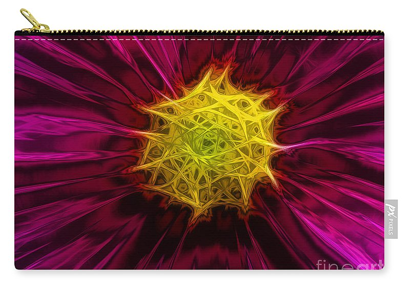 Digital Carry-all Pouch featuring the digital art Cosmea by Yvonne Johnstone