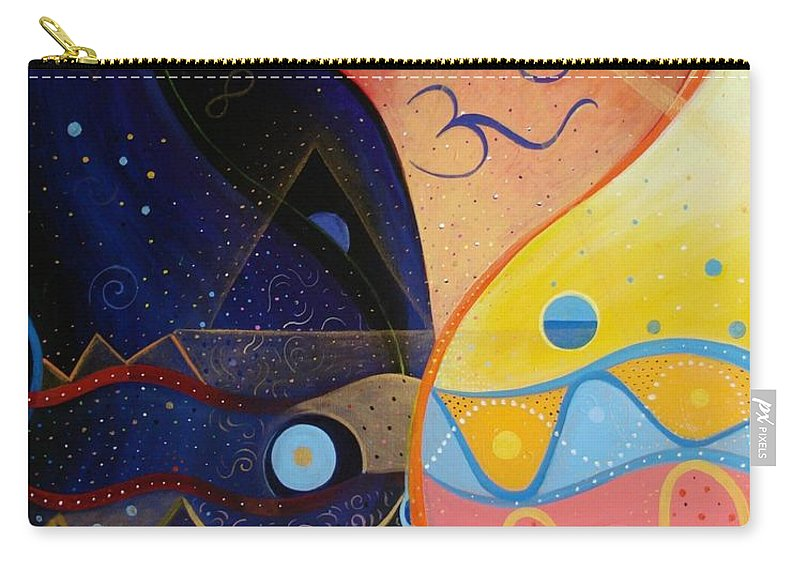 Value Carry-all Pouch featuring the painting Cosmic Carnival Vlll Aka Sacred And Profane by Helena Tiainen