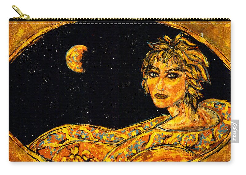 Cosmic Carry-all Pouch featuring the painting Cosmic Child by Shakti Brien