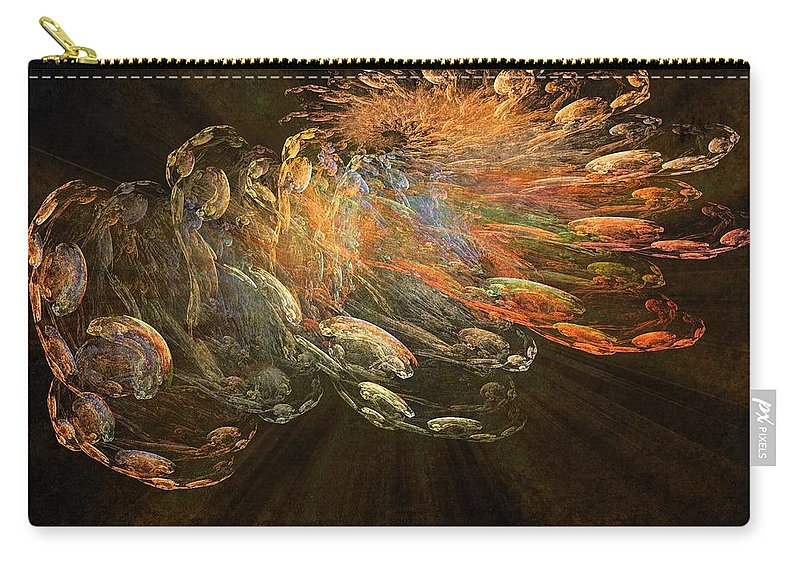Cosmic Dust Carry-all Pouch featuring the painting Cosmic Dust And Light Beauty Fine Fractal Art by Georgeta Blanaru