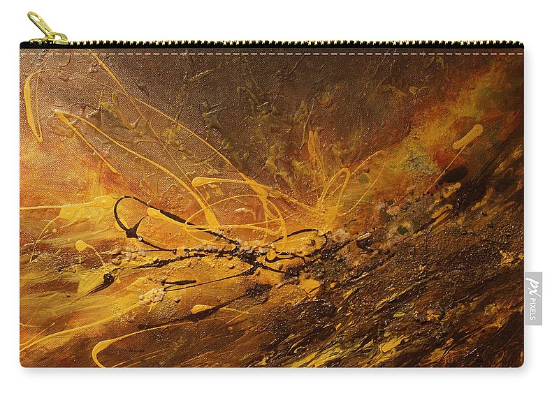 Universe Carry-all Pouch featuring the painting Cosmic Energy by Jo Smoley