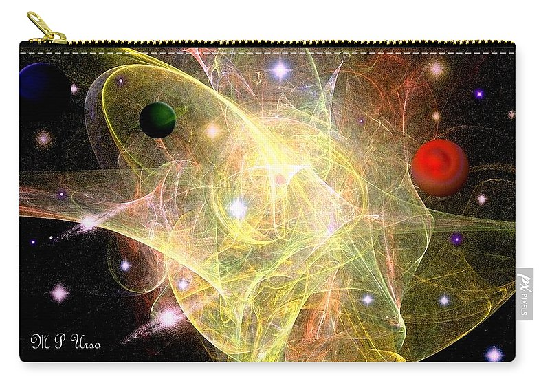 Cosmic Jubilation Carry-all Pouch featuring the digital art Cosmic Jubilation by Maria Urso