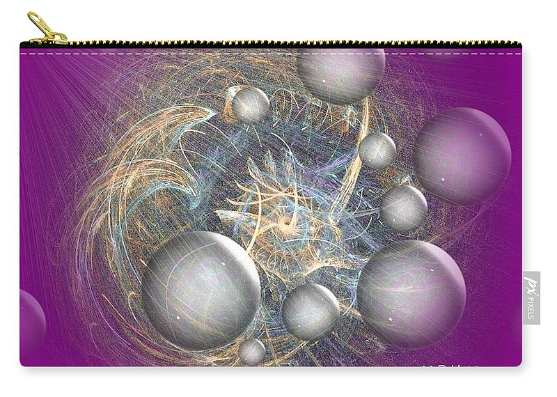 Cosmic Purple Carry-all Pouch featuring the digital art Cosmic Purple by Maria Urso
