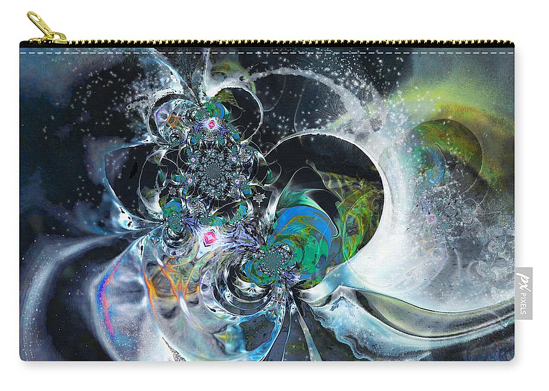 Fractal Carry-all Pouch featuring the painting Cosmic Spider by Miki De Goodaboom
