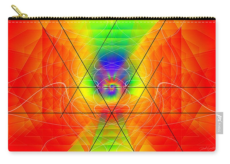 Cosmic Spiral Ascension Carry-all Pouch featuring the digital art Cosmic Spiral Ascension 01 by Derek Gedney