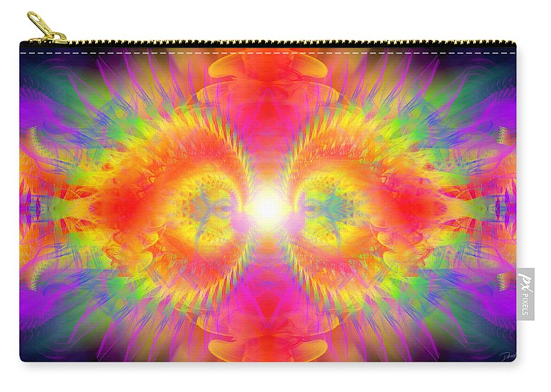 Cosmic Spiral Ascension Carry-all Pouch featuring the digital art Cosmic Spiral Ascension 02 by Derek Gedney
