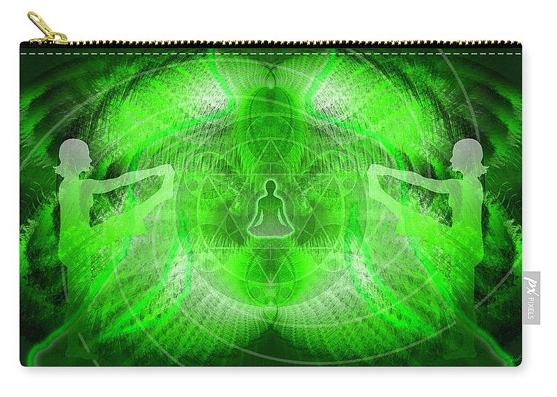 Cosmic Spiral Ascension Carry-all Pouch featuring the digital art Cosmic Spiral Ascension 24 by Derek Gedney
