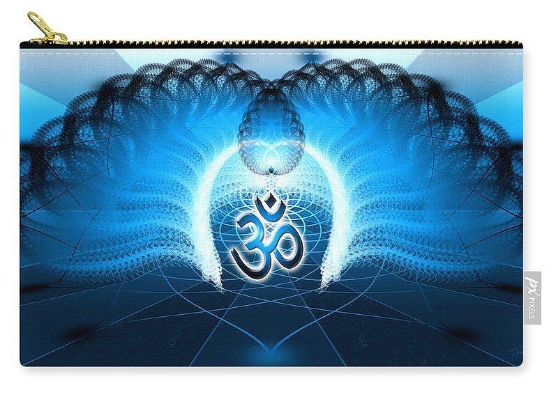 Cosmic Spiral Ascension Carry-all Pouch featuring the digital art Cosmic Spiral Ascension 30 by Derek Gedney