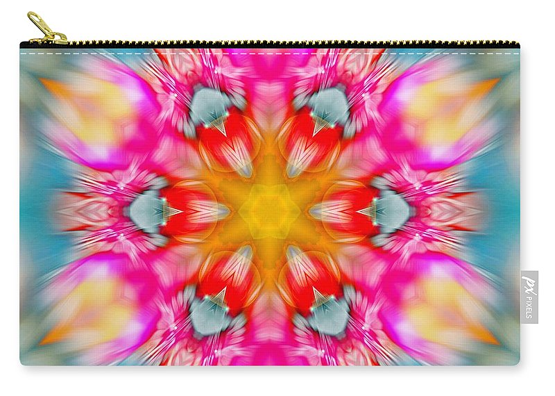 Sacredlife Mandalas Carry-all Pouch featuring the photograph Cosmic Torch by Derek Gedney