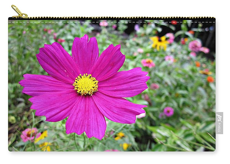 Cosmos Carry-all Pouch featuring the photograph Cosmos In The Wild Garden by MTBobbins Photography